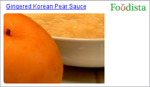 Gingered Korean Pear Sauce on Foodista