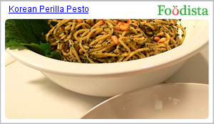 Korean Perilla Pesto on Foodista