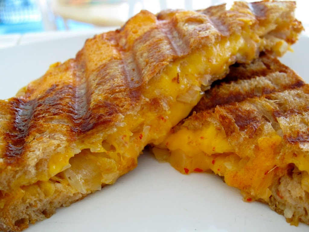 Recipe: Kimchi grilled cheese sandwich | Koreafornian Cooking