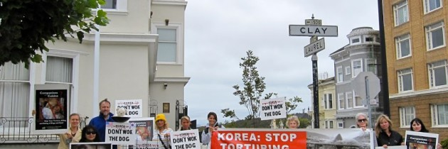San Francisco protest against Korean consumption of dog meat