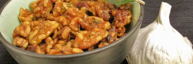 Recipe: Rosemary garlic walnuts with smoked olive oil