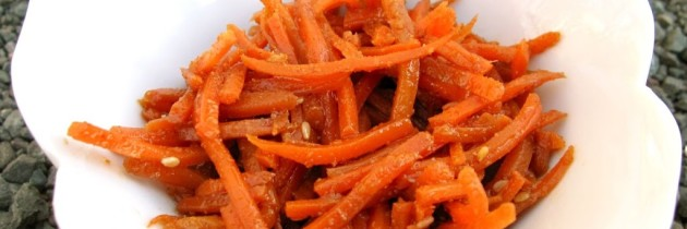 Recipe: Korean carrot salad (Koreyscha Sabzili Salat)