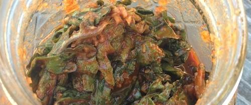 Recipe: Kale kimchi (케일 김치)