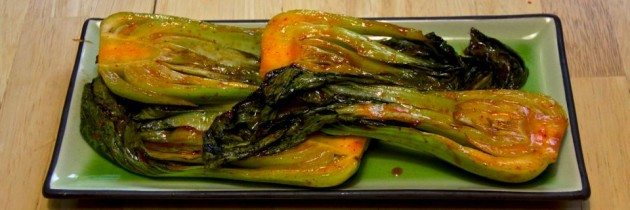 Recipe: Spicy Grilled Bok Choy