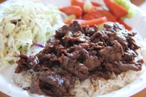 Bulgogi with rice and sides. (Jeff Quackenbush photo)