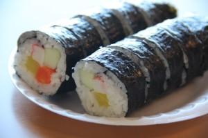 Who can resist a plate of kimbap? (Jeff Quackenbush photo)