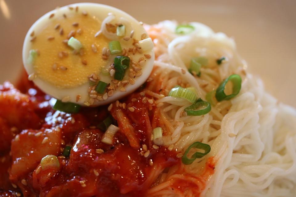 Kimchi bibimguksoo at Soban